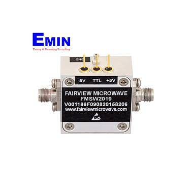 FairviewMicrowave FMSW2019, 2.92mm PIN Diode Switch SPST (50 Ohm, 2GHz - 40 GHz, +30 dBm, 2.92mm Female)
