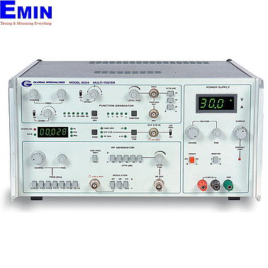 Global  9004 4-Instrument Test Station (RF generator, frequency counter, function generator, and DC power supply)