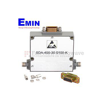 Fairviewmicrowave SDA-400-030-0100-K 0 to 30 dB 5 Bit Programmable TTL Controlled Step Attenuator With a 1 dB Step 2.92mm Female To 2.92mm Female From 100 MHz To 40 GHz