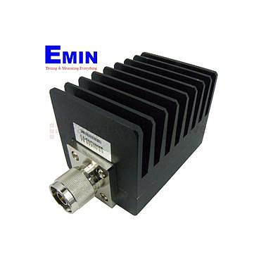 Fairview SA4N508-01 1 dB Fixed Attenuator N Male To N Female Up To 4 GHz Rated To 50 Watts With Black Aluminum Heatsink Body