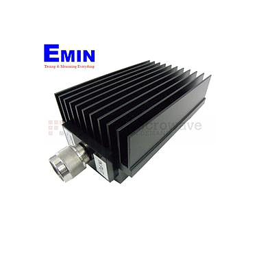 Fairview SA8N005-10 10 dB Fixed Attenuator N Male To N Female Directional Up To 8.5 GHz Rated To 150 Watts With Black Aluminum Heatsink Body