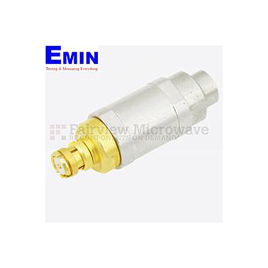 Fairview  SA10P2W-15 15 dB Fixed Attenuator SMP Male To SMP Female Up To 10 GHz Rated To 2 Watts With Passivated Stainless Steel Body