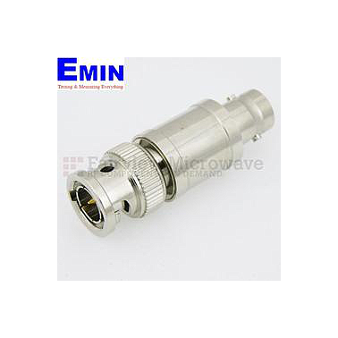 Fairview  SA03B75-02 2 dB Fixed Attenuator 75 Ohm BNC Male To 75 Ohm BNC Female Up To 3 GHz Rated To 2 Watts With Brass Nickel Body