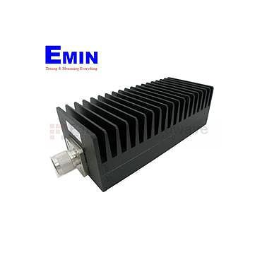 Fairview SA3N1007-20 20 dB Fixed Attenuator N Male To N Female Up To 3 GHz Rated To 100 Watts With Black Aluminum Heatsink Body