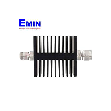 Fairview SA75DMDF50W-03  3 dB Fixed Attenuator 7/16 Male To 7/16 Female Directional Up To 7.5 GHz Rated To 50 Watts With Black Aluminum Heatsink Body