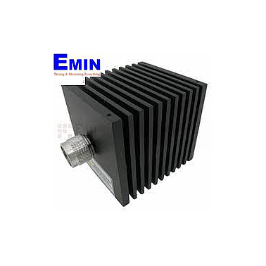 Fairview  SA18N507-30 30 dB Fixed Attenuator N Male To N Female Directional Up To 18 GHz Rated To 50 Watts With Black Aluminum Heatsink Body