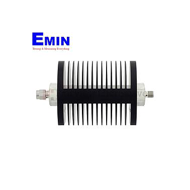 Fairview SA8SMSF25W-50  50 dB Fixed Attenuator SMA Male To SMA Female Up To 6 GHz Rated To 25 Watts With Black Aluminum Heatsink Body