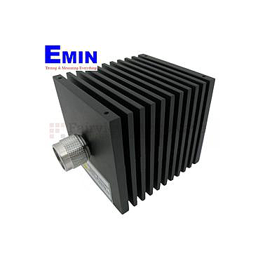 Fairview  SA18N507-06  6 dB Fixed Attenuator N Male To N Female Directional Up To 18 GHz Rated To 50 Watts With Black Aluminum Heatsink Body