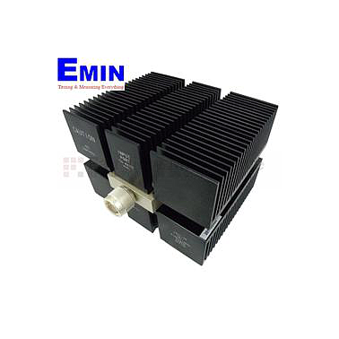 Fairview SA8N150-06 6 dB Fixed Attenuator N Male To N Female Directional Up To 8 GHz Rated To 150 Watts With Black Aluminum Heatsink Body