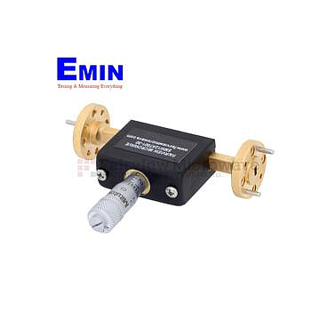 Fairview SMW12AT001-30 WR-12 Waveguide Continuously Variable Attenuator With Dial 0 to 30 dB Operating from 60 GHz to 90 GHz, UG-387/U Round Cover Flange