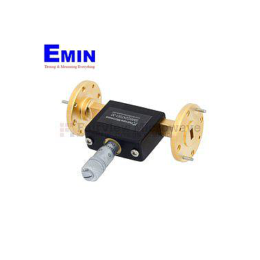 Fairview  SMW22AT001-30  WR-22 Waveguide Continuously Variable Attenuator With Dial 0 to 30 dB Operating from 33 GHz to 50 GHz, UG-383/U Round Cover Flange
