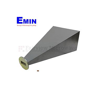Fairview  SH1284-20 WR-284 Standard Waveguide Horn With UG-584/U Round Cover Flange and 20 dB Nominal Gain Operating From 2.6 GHz to 3.95 GHz Frequency Range