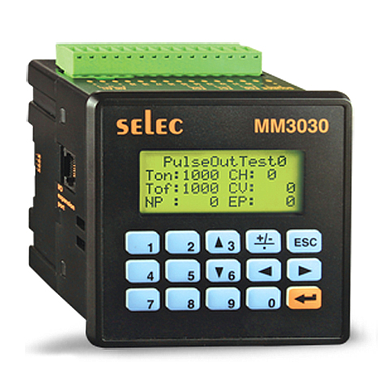 Selec MM3030 - 3 - P1 PLC, Built-in HMI, upto 10 DI+8DO+2AI ( 96 x 96 )