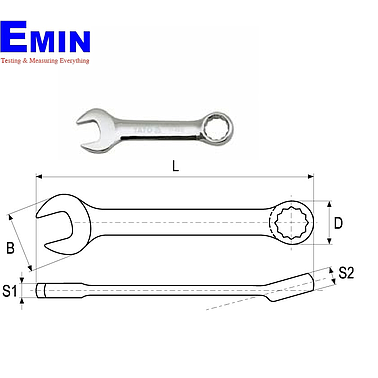 Yato YT-4910 Stubby combination spanner 17mm