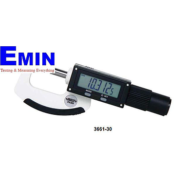 INSIZE 3661-30 High Precision Non-rotating Spindle Digital Micrometer (0-30mm; ±2μm )