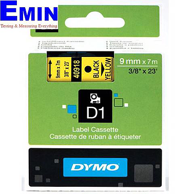 DYMO 63020734 Labelmanager D1 Black/Yellow Tape (9mm x 7m)