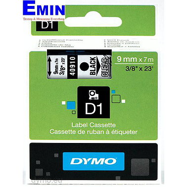 DYMO 63020715 Labelmanager D1 Black/Clear Tape (19mm x 7m)