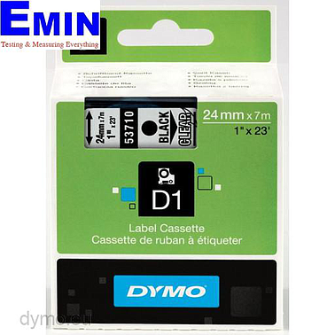 DYMO 63020724 Labelmanager D1 Black/Clear Tape (24mm x 7m)