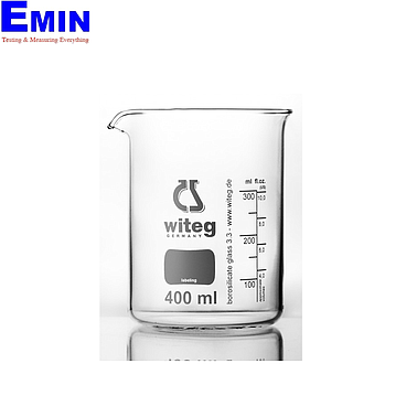 WITEG 5 500 002 B Beaker low form with spout and Witeg logo (2000ml; 10 pcs)